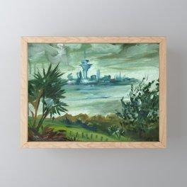 Auckland City - Impressionist Landscape Framed Mini Art Print