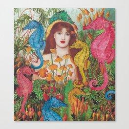 Seahorse Garden Canvas Print