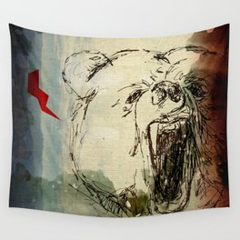 Don't Feed the Bears Lightning Wall Tapestry