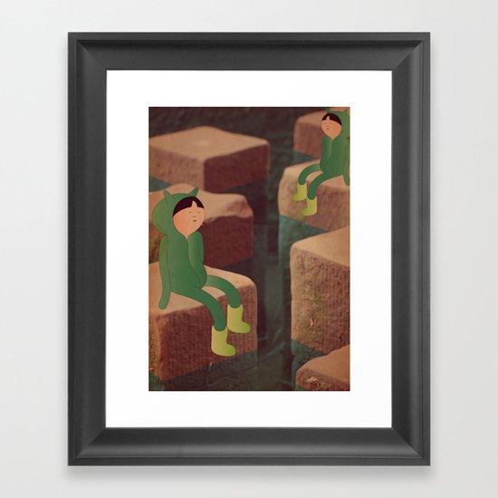 5 m i n Framed Art Print