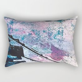 Breathe [5]: colorful abstract in black, blue, purple, gold and white Rectangular Pillow