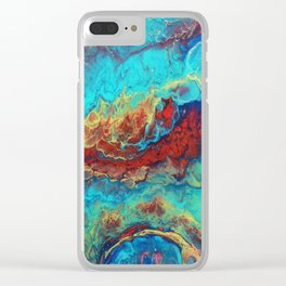 Abstract flow Macro Clear iPhone Case
