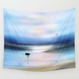 Digital Waterway Wall Tapestry