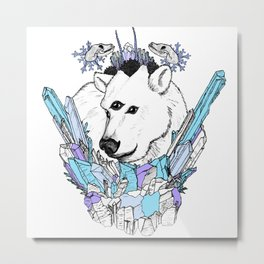 Bear of The North (color edition) Metal Print