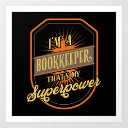 Bookkeeper Art Print