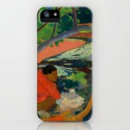 "Paul Gauguin ""Te Poipoi (Le matin - The morning)"" iPhone Case"