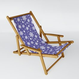 Purple Holiday Snowflake Pattern Sling Chair