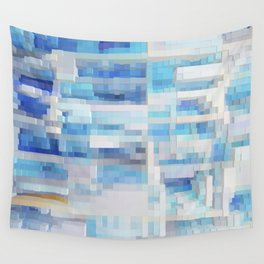 Abstract blue pattern 2 Wall Tapestry