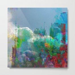glitch cloud 9. Metal Print