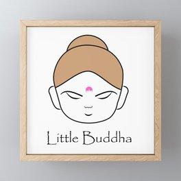 Cute little Buddha Framed Mini Art Print