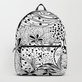 Butterfly and flowers, doodles Backpack