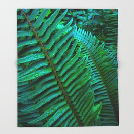 Flowing Ferns Throw Blanket