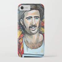 nicolas cage iPhone & iPod Cases featuring Raising Arizona Nicolas Cage by Portraits on the Periphery