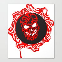 gears of war Canvas Prints featuring Gears Of War Design by Megan Yiu