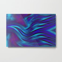 Flying Bird-blue/purple Metal Print