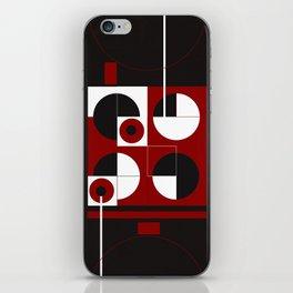 Geometric/Red-White-Black  1 iPhone Skin