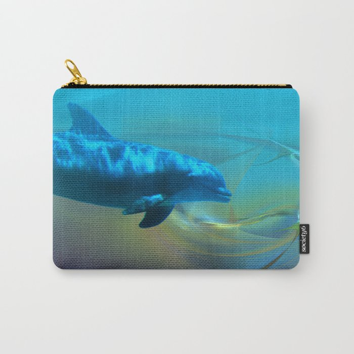 Happy Dolphin Carry-All Pouch
