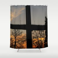 istanbul Shower Curtains featuring Istanbul Bridge by habish