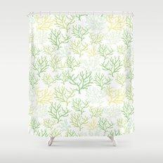 Green Corals Shower Curtain