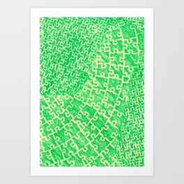 Life is a puzzle 17 Art Print