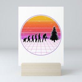 Logger Evolution Vaporwave Forester Mini Art Print