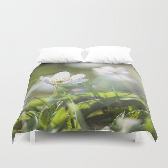 Windflower in love  Duvet Cover