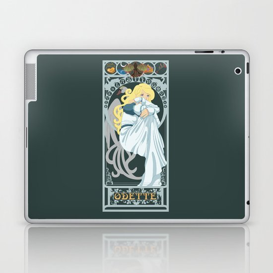 Odette Nouveau - Swan Princess Laptop & iPad Skin