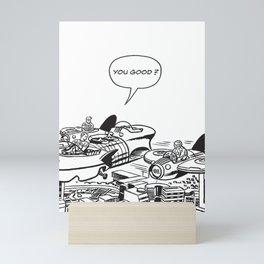 Mister Fantastic Checks on The Thing Mini Art Print