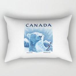 1953 CANADA Polar Bear Postage Stamp Rectangular Pillow