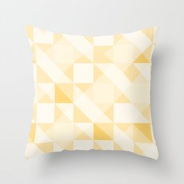All Yellow Triangle Pattern Throw Pillow