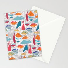 Abstract Atomics Stationery Cards