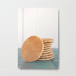 Stack of Dutch stroopwafel cookies Metal Print