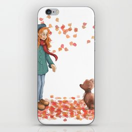 Just a two of us (autumn) iPhone Skin
