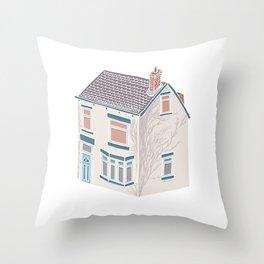 Little Village House Throw Pillow