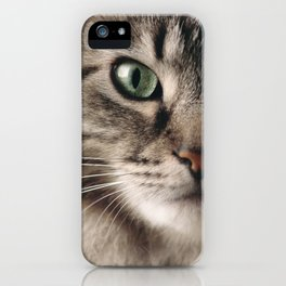 Sage Green Stare iPhone Case