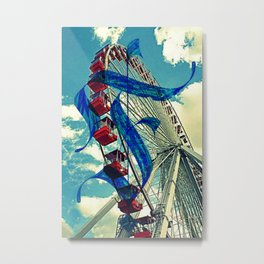 Letter F is for Ferris Wheel and Bueller Metal Print