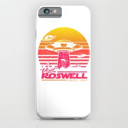 Roswell UFO conspiracy theory Area 51 gift iPhone Case