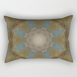 Gold Liquid Turquoise Star Elegance Rectangular Pillow
