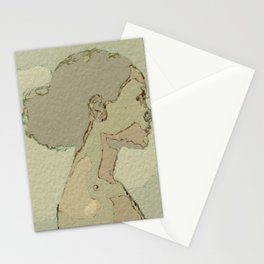 Neutral Colors Afro Stationery Cards