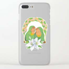 The lovebirds Song of Love Clear iPhone Case