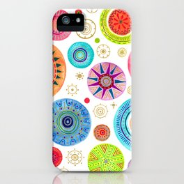 festive flowers iPhone Case