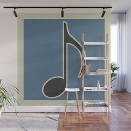 Eighth Note Blue Wall Mural