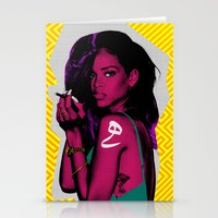 rihanna Stationery Cards featuring RIHANNA by FA 23