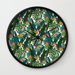 Bird of paradise Wall Clock