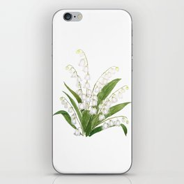 white lily of valley iPhone Skin