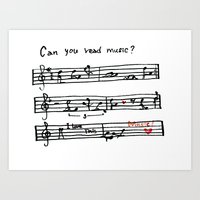 Can you read music? Art Print