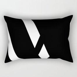 Hidden Letters. Baskerville W Rectangular Pillow