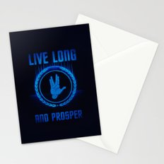 Live Long and Prosper - Spock's hand - Leonard Nimoy Geek Tribut Stationery Cards
