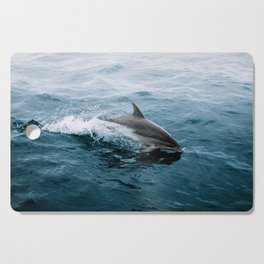 Dolphin in the Atlantic Ocean - Wildlife Photography Cutting Board