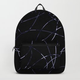 Abstract Threads Blue-Gray Dapple Backpack
